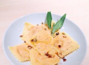 ravioles de Potirons & beurre de sauge
