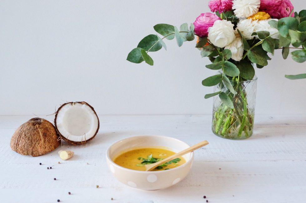 Soupe carotte curry coco